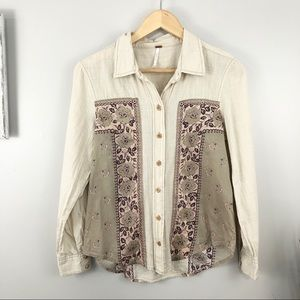 Free People Wood Button Shirt